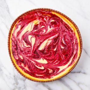 Cheesecake framboos – groot 6 a 8 personen